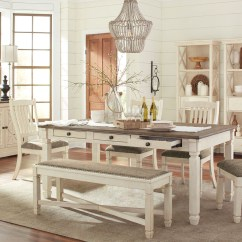Antique White Dining Chairs Step2 Table And Chair Set With Umbrella The Bolanburg 10 Pc Rectangular Sold At Image 1