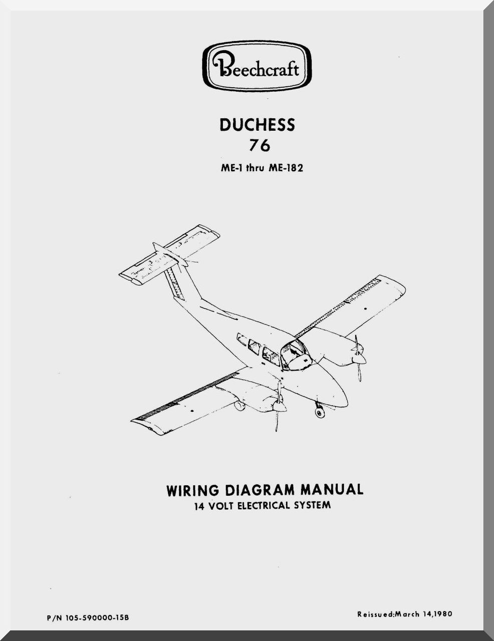 Beechcraft Duchess 76 Me1 thu Me182 Aircraft Wiring Diagrams Manual   Aircraft Reports