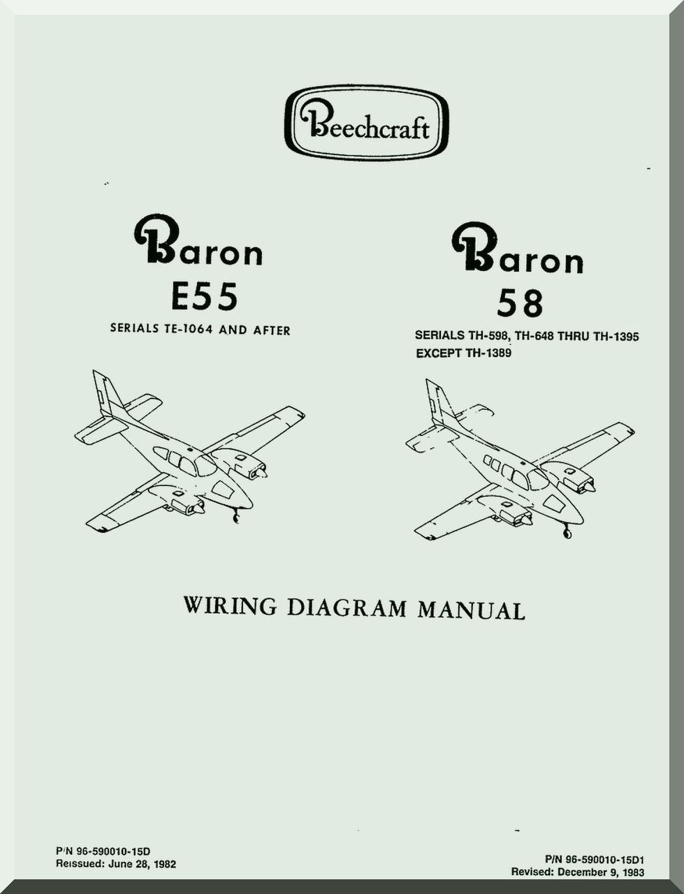 medium resolution of wiring diagram manual aircraft beechcraft baron e 55 58 aircraft wiring diagram manual