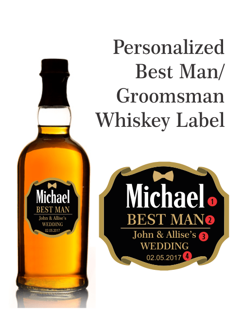 personalized whisky gold foil