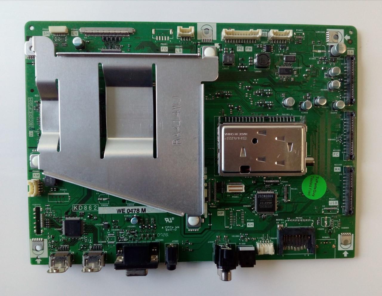 hight resolution of sharp lc 32d43u main board kd862we0478m kd862we0478m on