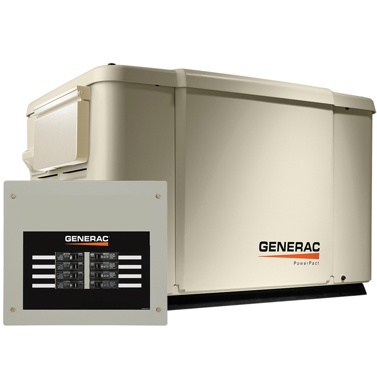 generac powerpact 6998 7 5kw generator with wi fi 50a 8 circuit transfer [ 1200 x 1200 Pixel ]