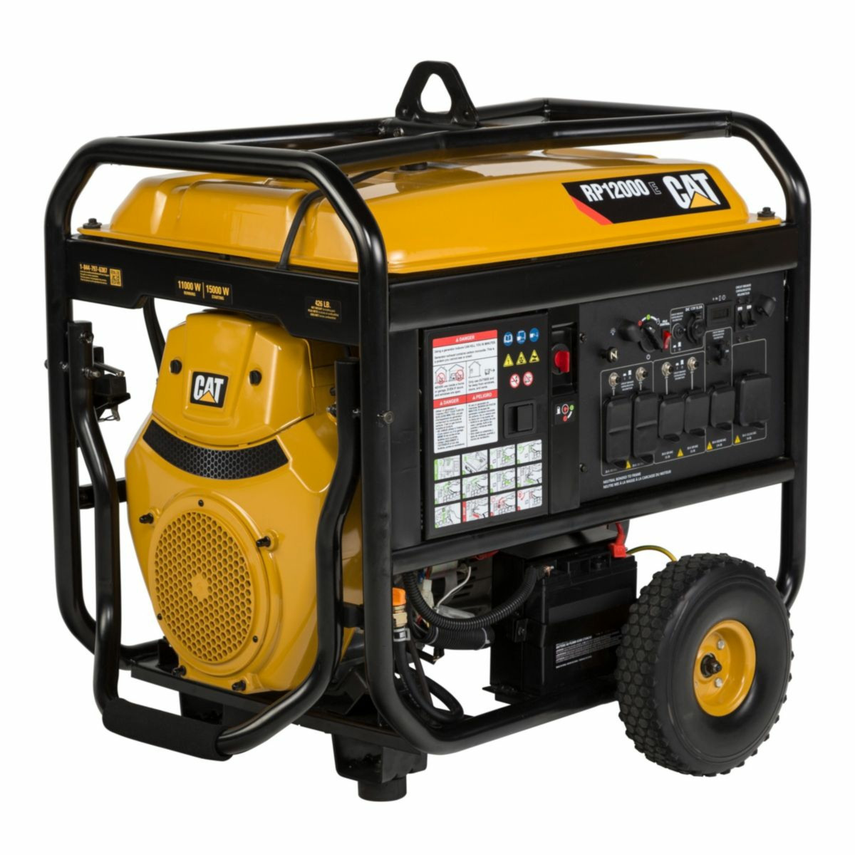 hight resolution of caterpillar rp12000e 12000w electric start portable generator free shipping