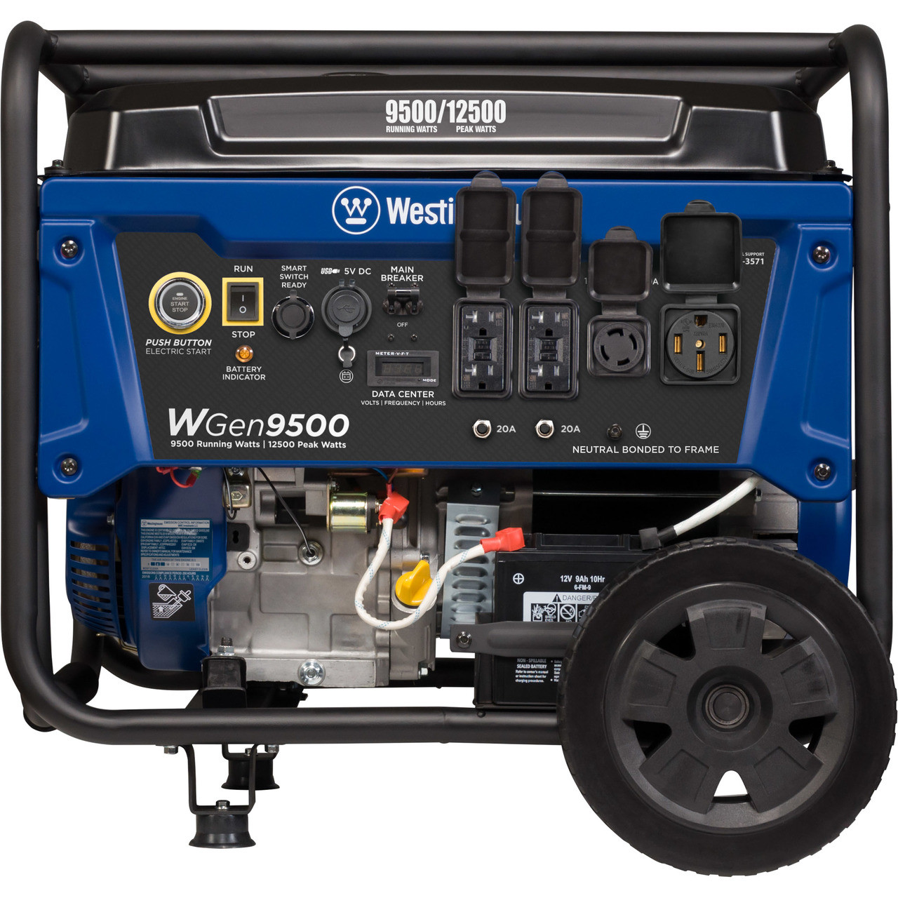 hight resolution of westinghouse wgen9500 9500w electric start portable generator free shipping