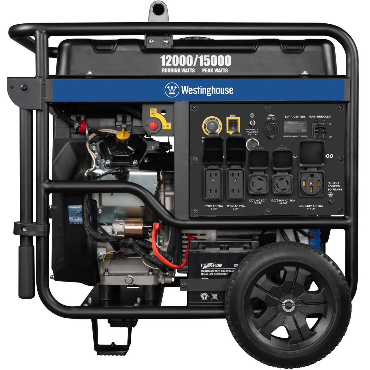 westinghouse wgen12000 12000w electric start portable generator free shipping [ 1280 x 1280 Pixel ]