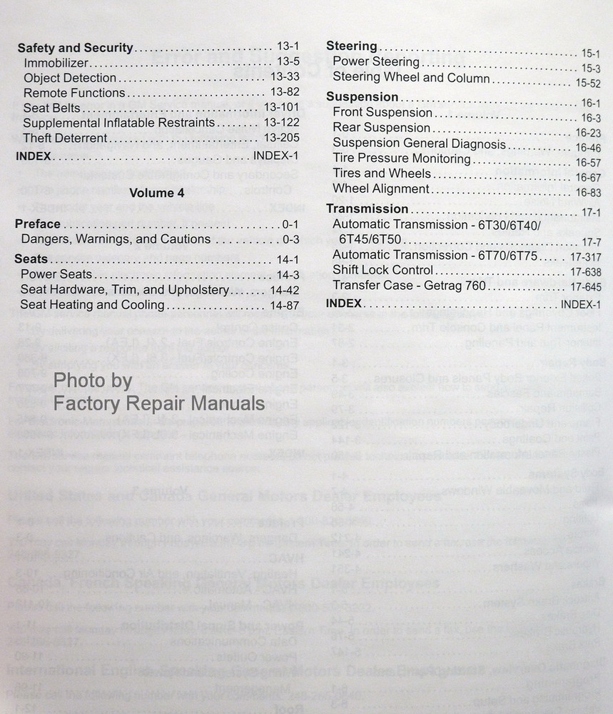 medium resolution of  2013 equinox terrain service manuals table of contents page 2