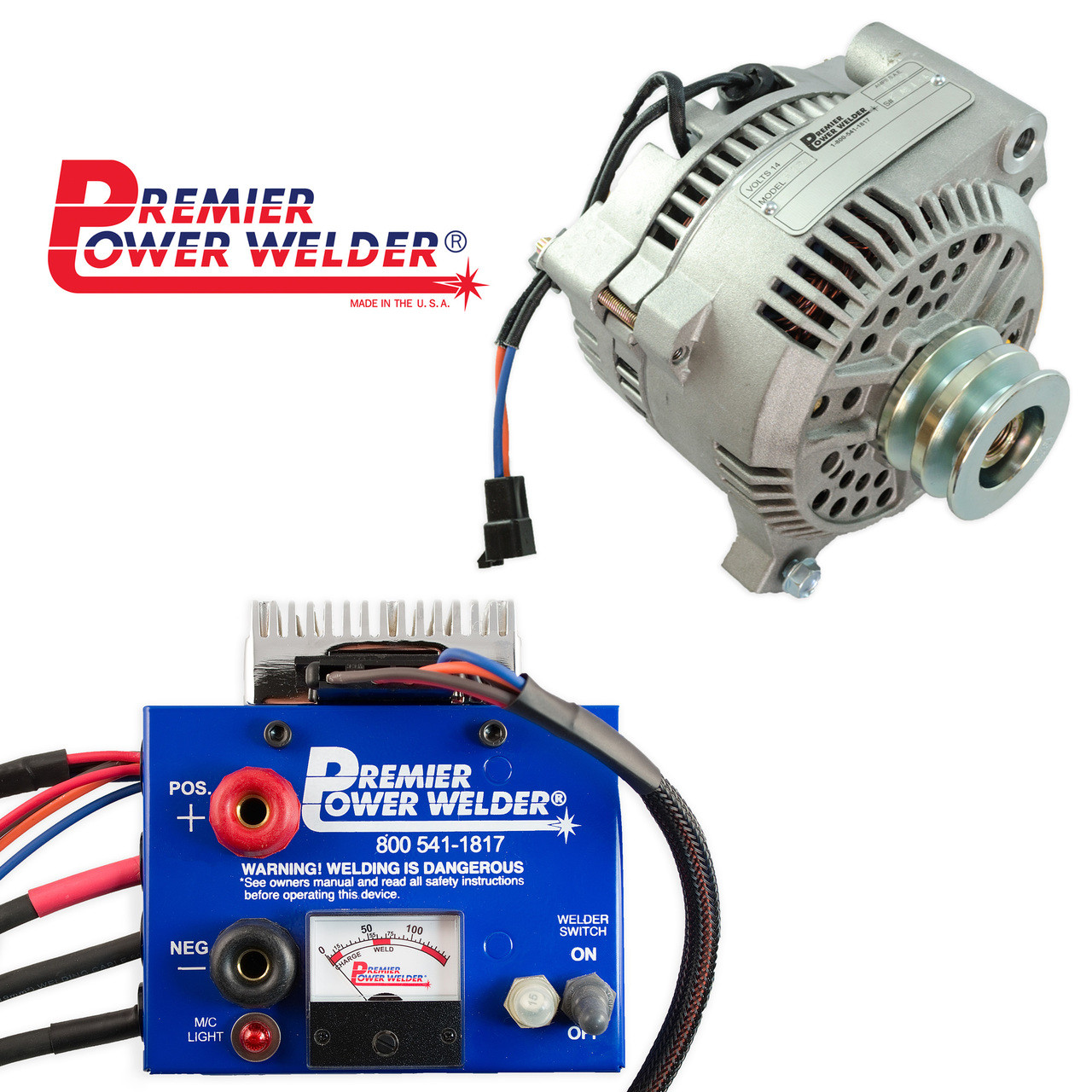 medium resolution of  ford bronco 1966 1977 180 amps 6 cyl 8 cyl mini welder alternator wire american mustang