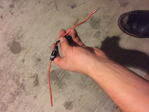 small resolution of pictured above is the inline fuse holder strip the wire on each end about 1 4 and then do the same on the fuse wires obviously wire strippers make that