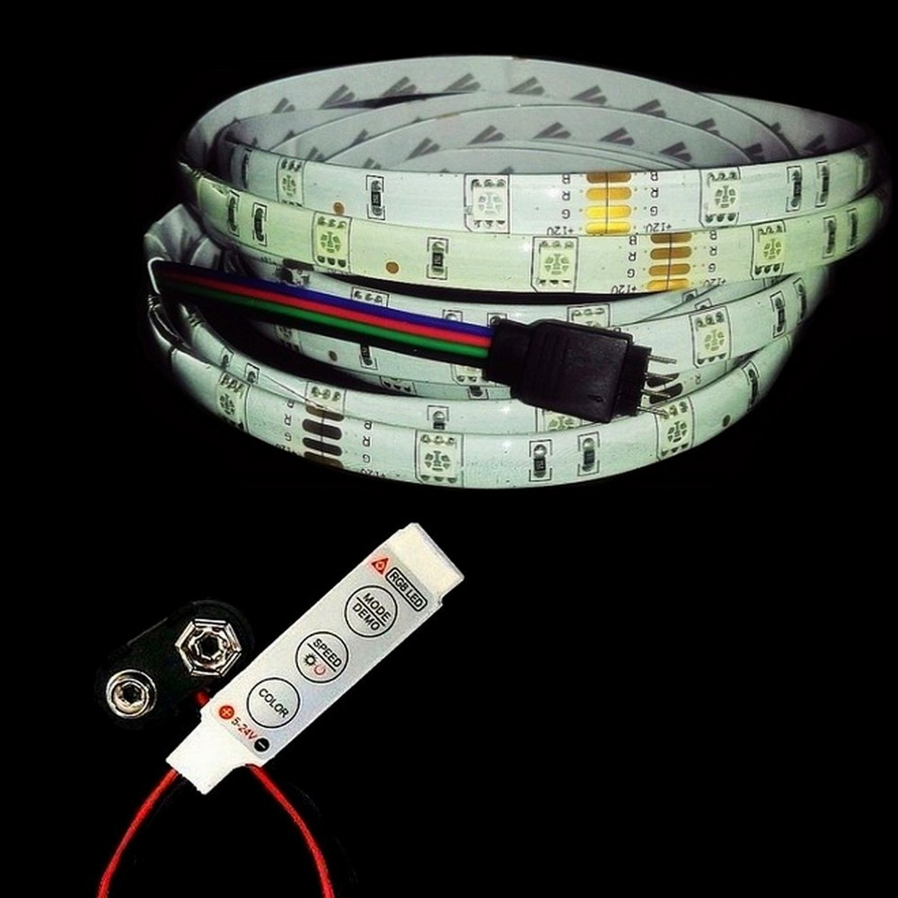 diagram on how 5050 rgb led strip with controller 9v battery connector glow hut v rgb led wiring  [ 1000 x 1000 Pixel ]