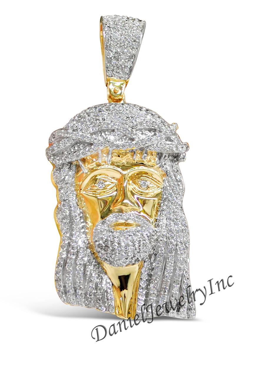 Danieljewelryinc : danieljewelryinc, Jesus, Piece, Yellow, 10.10ct, Diamonds