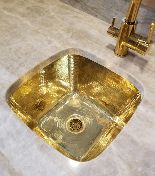 bar sink sbv15 brass square contoured brass bar prep sink