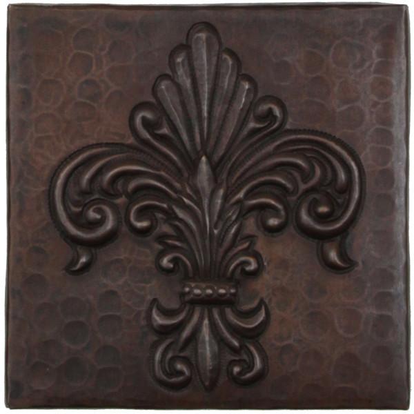 copper tile tl993 fernale fleur de lis design
