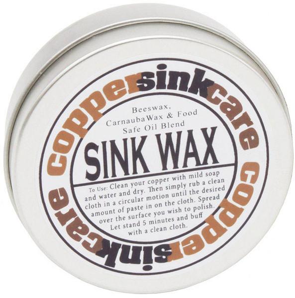 sink care wax04 copper sink wax