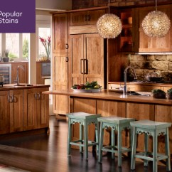 Most Popular Kitchen Cabinets Tile Top 5 S Kraftmaid Cabinet Stains Rustic Honey Spice We Recently Shared Our Paint Finishes For