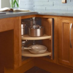 Kitchen Lazy Susan Centerpiece For Table Easy Reach Wood Kraftmaid Passport