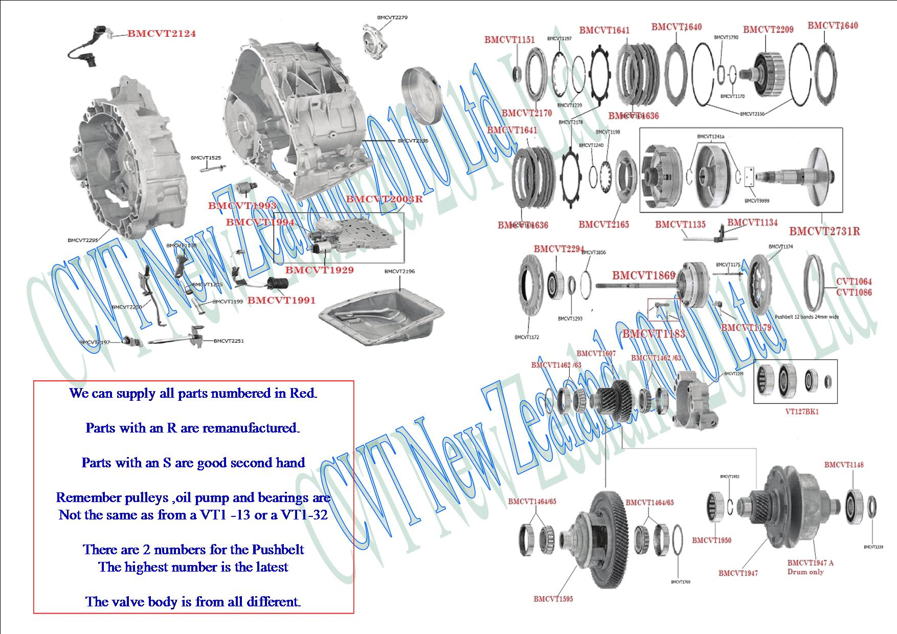 hight resolution of bmw mini cvt transmission vt1 27 cvt transmission cvt parts limited subaru cvt transmission diagram
