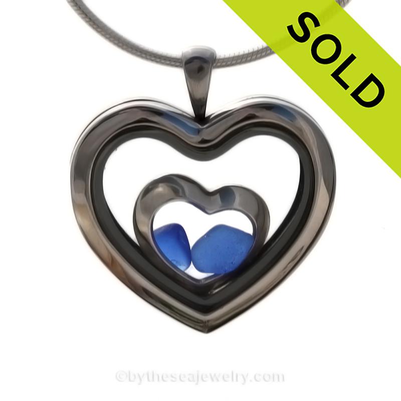 heart in heart blue