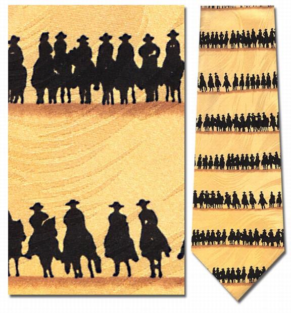 western silhouette cowboys necktie
