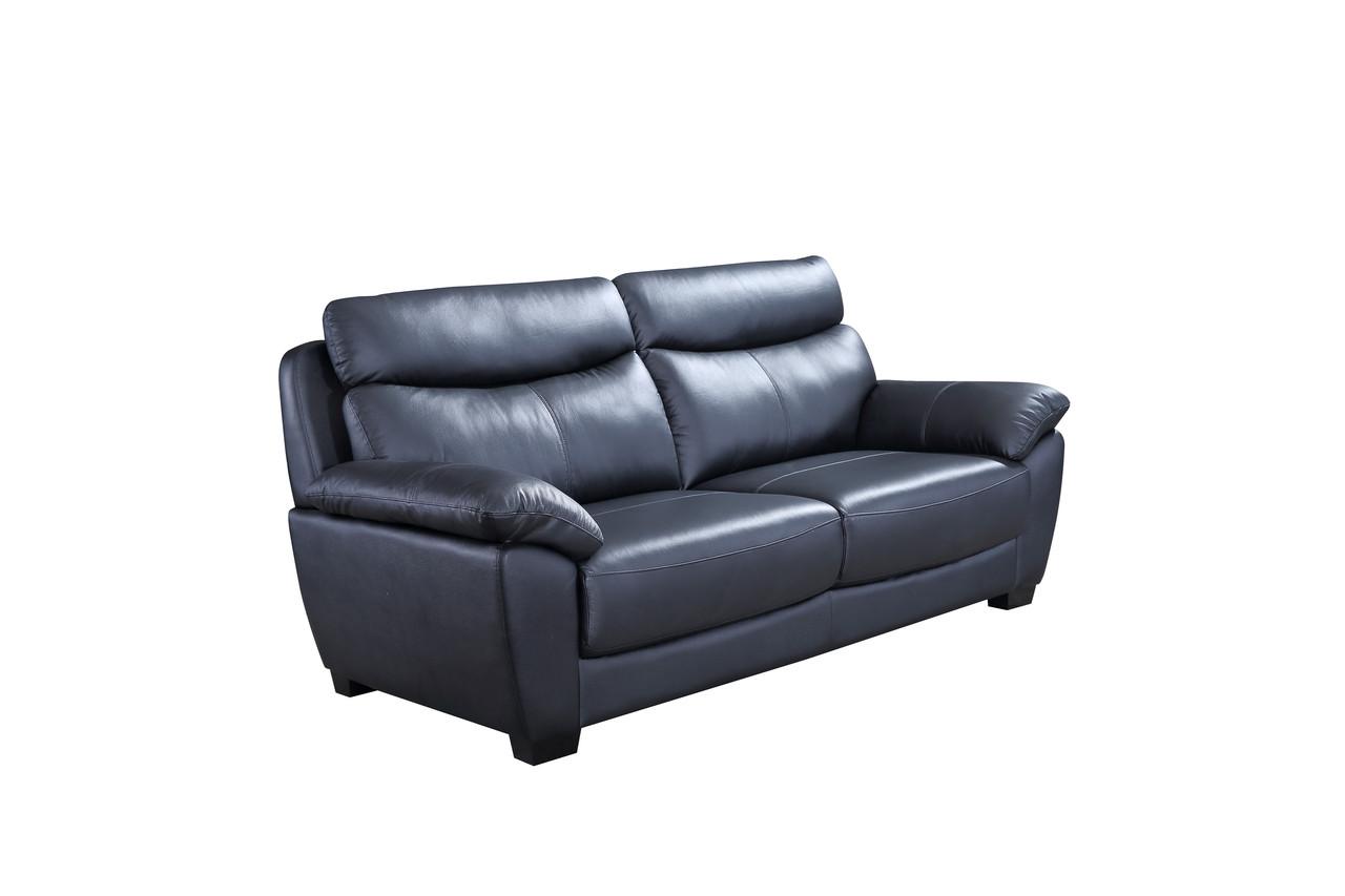 all leather sofa bed glasgow sofas outlet ltd evan genuine black pallucci furniture loading zoom