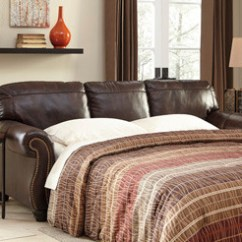 All Leather Sofa Bed How To Clean Natural Fabric Darla Genuine Brown Pallucci Furniture Loading Zoom