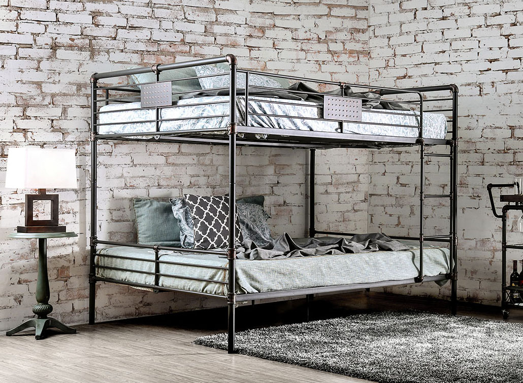 Throwback Look Chic Industrial Piping Style Metal Bunk Beds Www Justbunkbeds Com