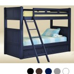 Dillon Navy Blue Wood Twin Bunk Bed That Separates