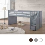 Laguna Shore Twin Low Loft With Step Drawers Junior Loft Beds