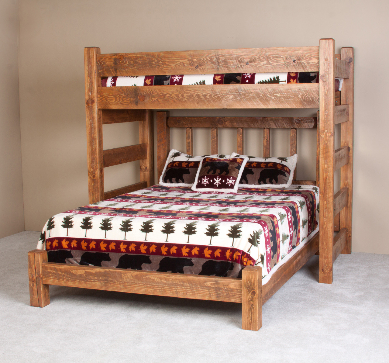 Lodge Barnwood Twin Xl Loft Bed For Adults