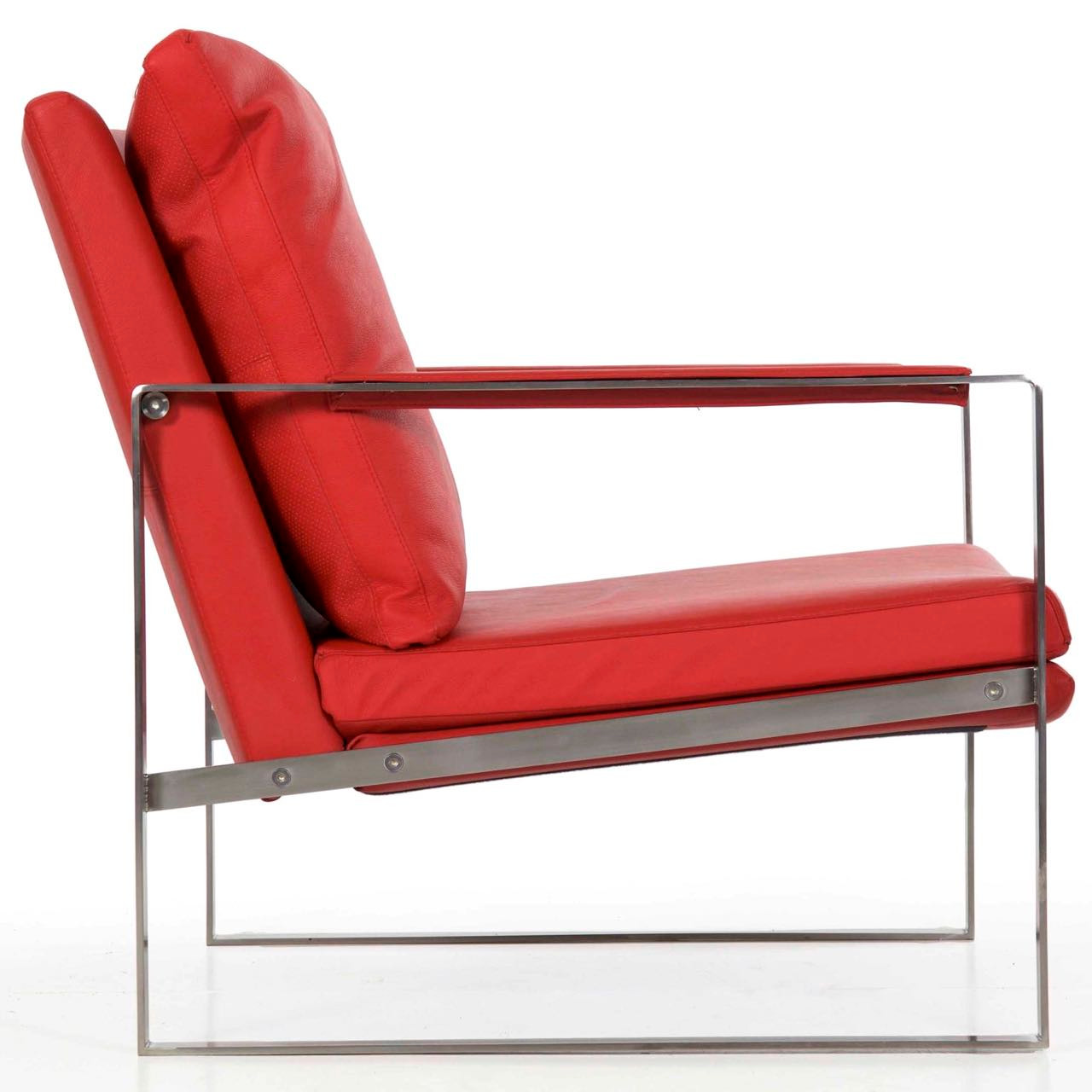 steel lounge chair folding racks fine quality brushed cube 20th century zoom