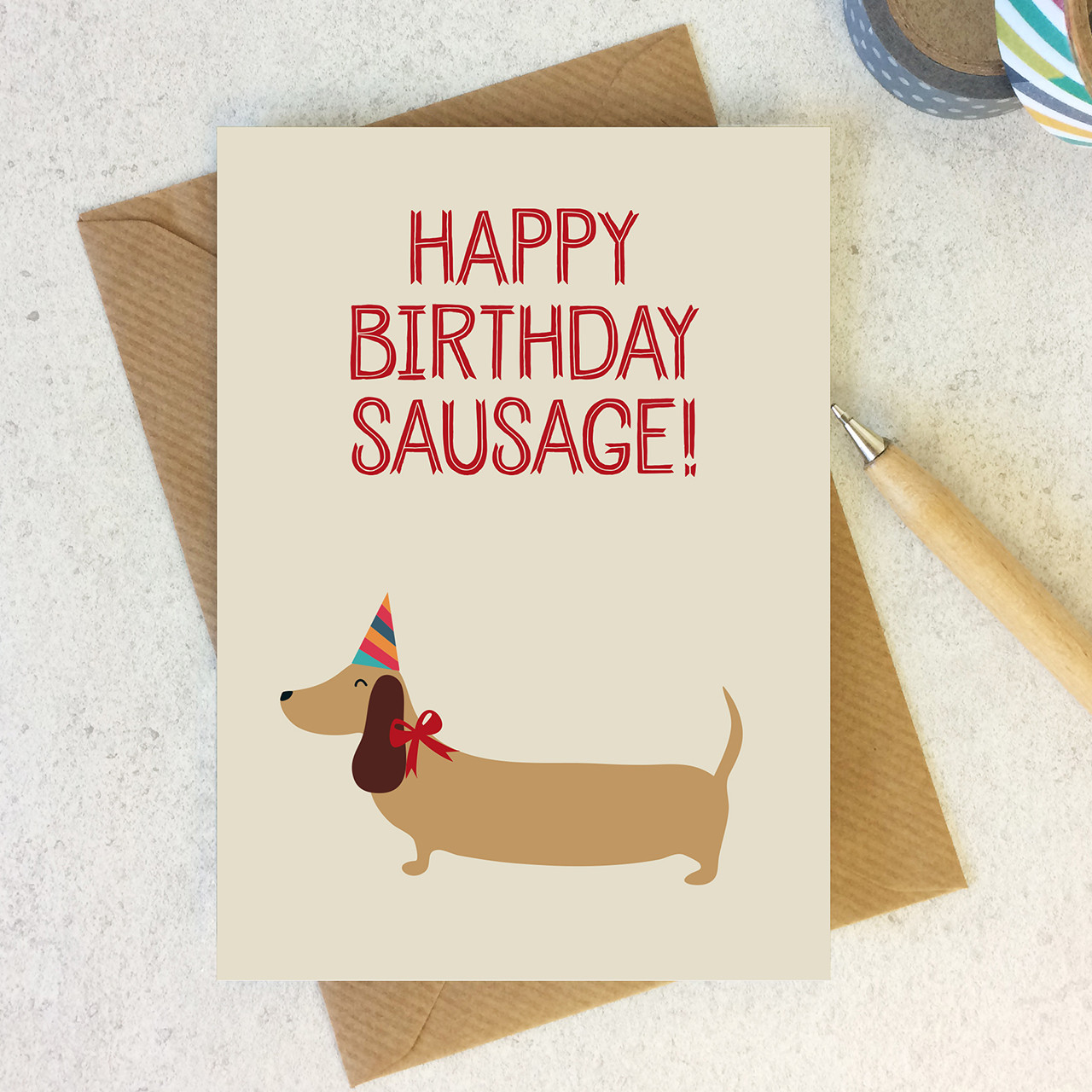 Happy Birthday Sausage Dog Lover Birthday Card