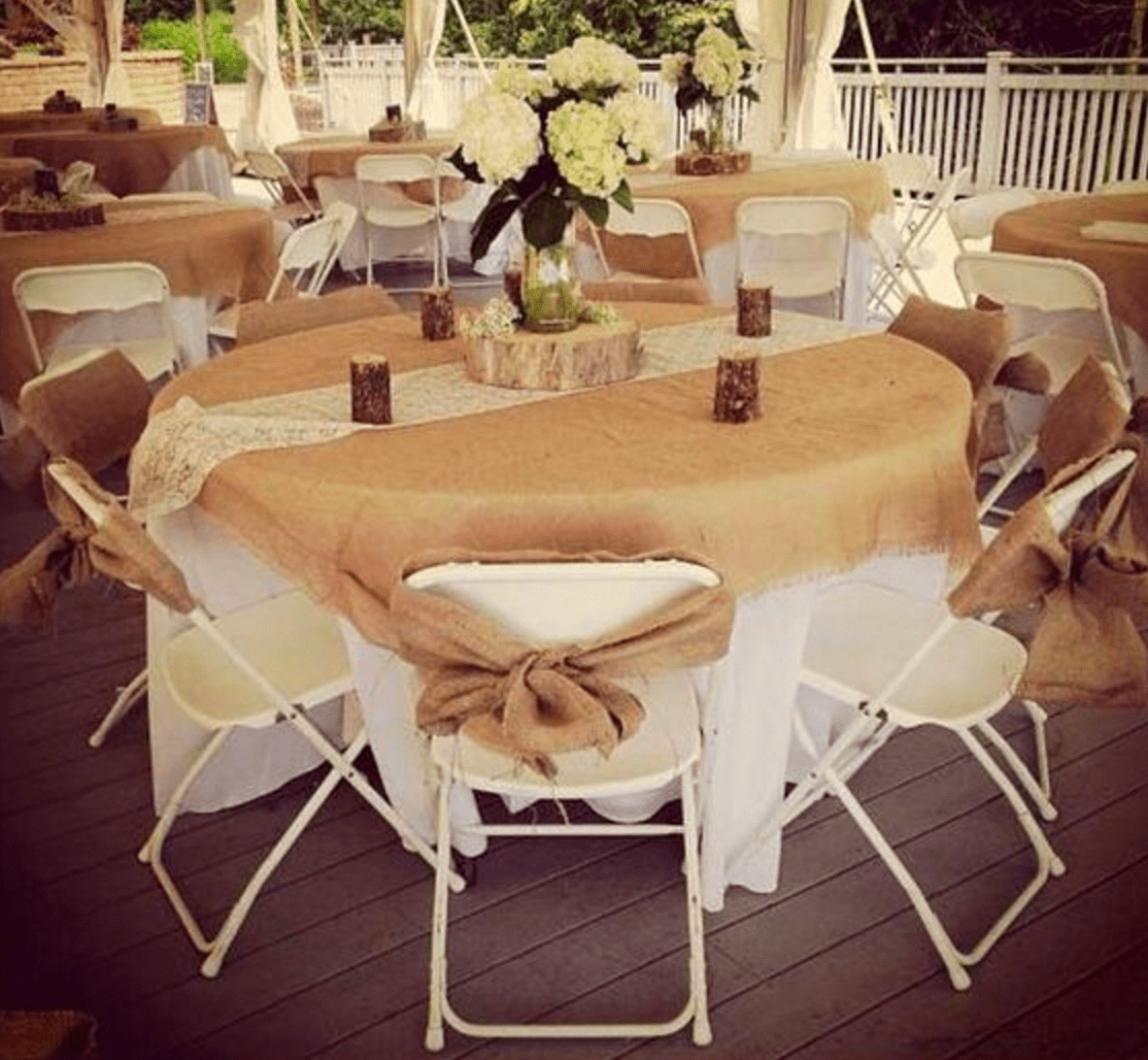 burlap chair covers for folding chairs guards walls can plastic look elegant my event ctc sashes made of fabrics other than tulle be another excellent addition to your also provide you the opportunity incorporate