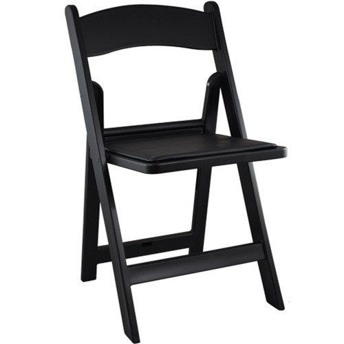 folding chairs for sale disabled shower chair black resin wedding padded