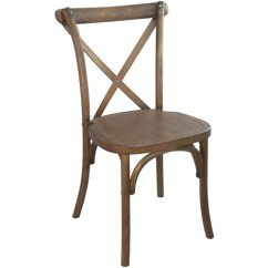 X Back Chairs Steel Chair With Arms Light Brown Cross