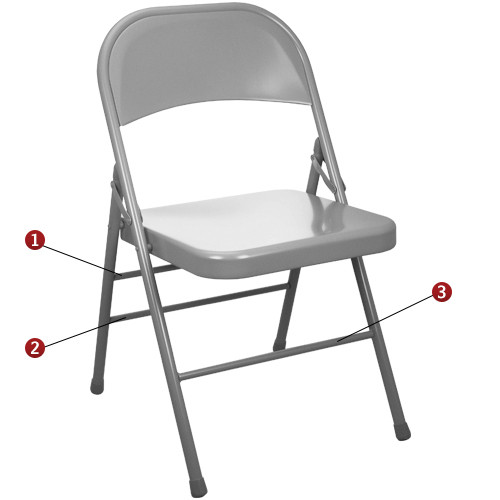 folding chair round modern armchairs images gray metal chairs triple braced discount