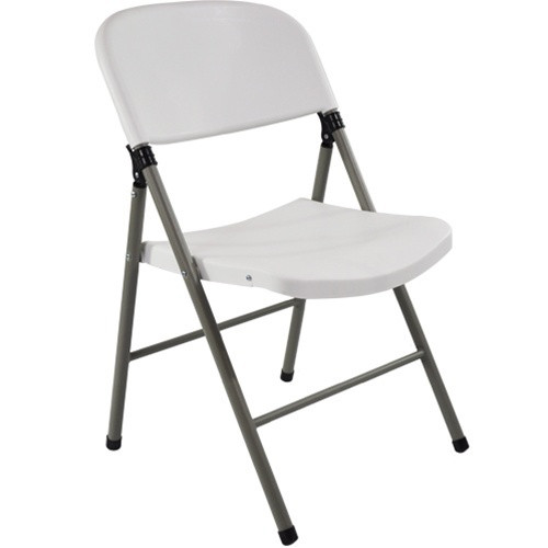 Oversized White Plastic Folding Chairs  Extra Strength