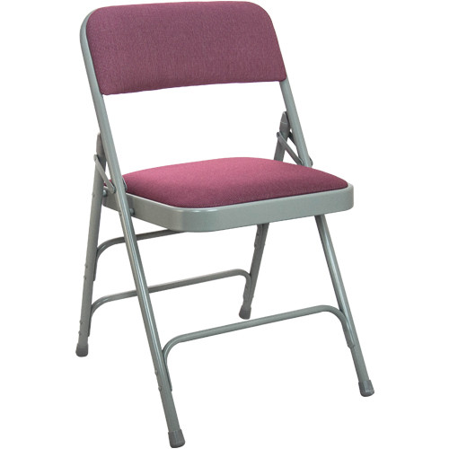 cloth padded folding chairs table with leather burgundy fabric metal