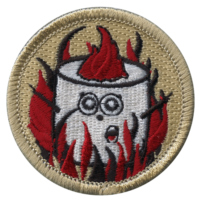 official licensed cartoon flaming