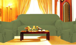 chair covers sage green outdoor bean bag chairs sunbrella 3 pcs slipcovers set sofa loveseat dark image 1