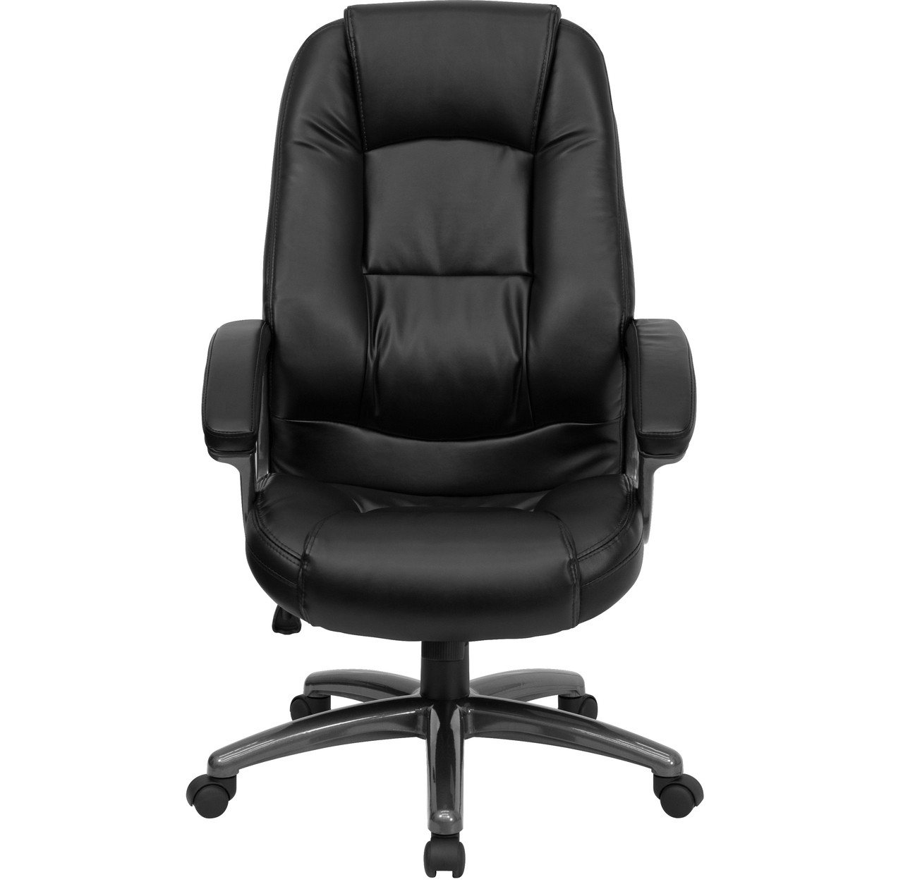black leather office chair high back outdoor directors chairs flash furniture executive swivel ergonomic image 1