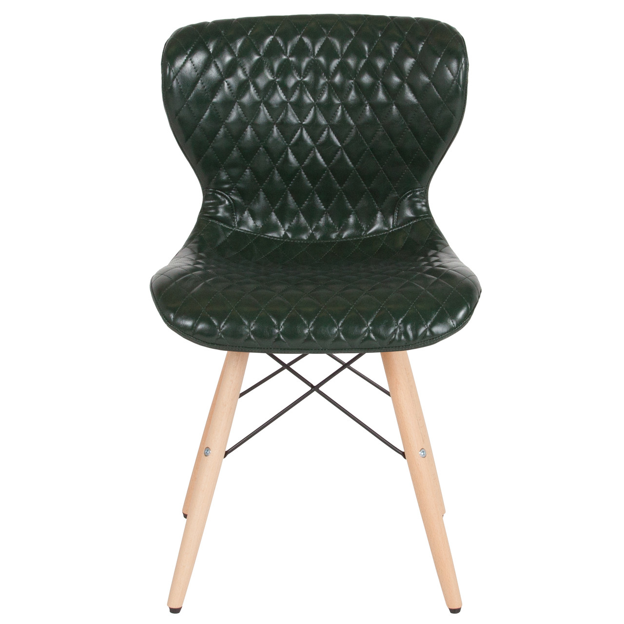 Green Upholstered Chair Flash Furniture Riverside Contemporary Upholstered Chair With Wooden Legs In Green Vinyl