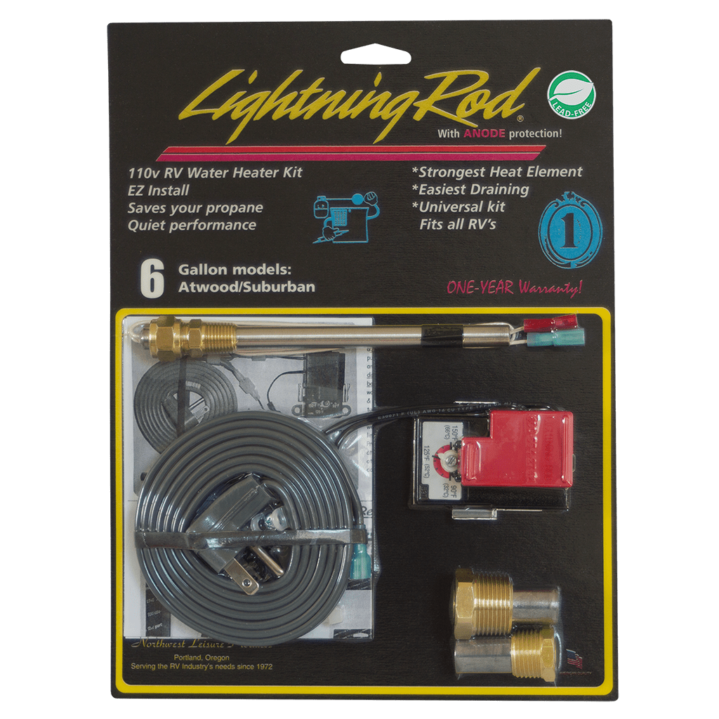 medium resolution of electric conversion kit lightning rod water heater 6 gallon suburban atwood