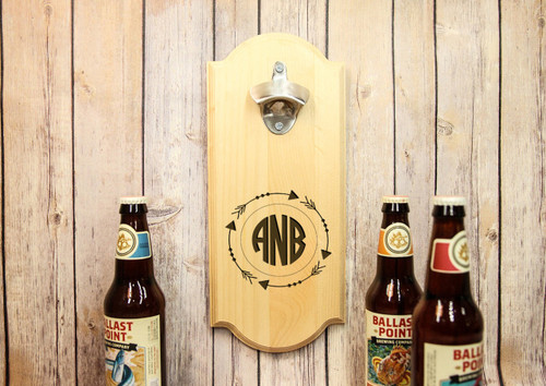 personalized wall mount bottle