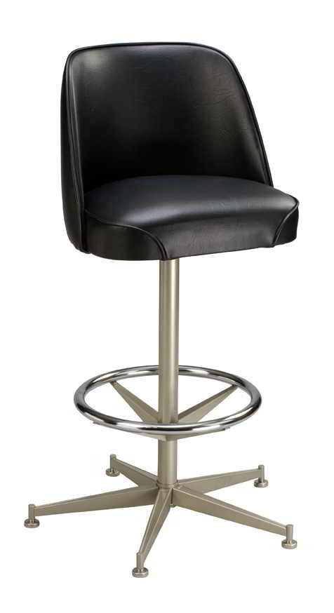 swivel base for chairs replacement parts xbox one gaming chair bar stool seats and stools this 5 legged with ring features a 360 degree chrome
