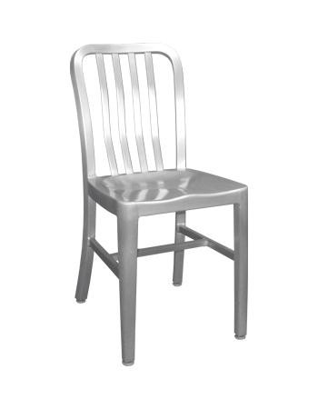 outdoor aluminum chairs chair covers for weddings rentals dining metal the rosa is an easy choice featuring a contemporary slat back style