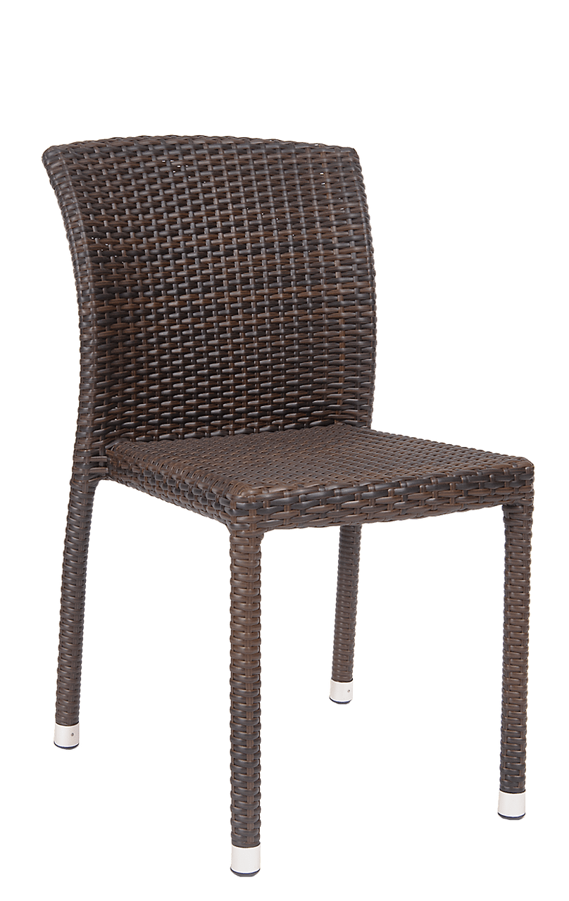 Outdoor Wicker Dining Chairs Hilary Synthetic Wicker Side Chair