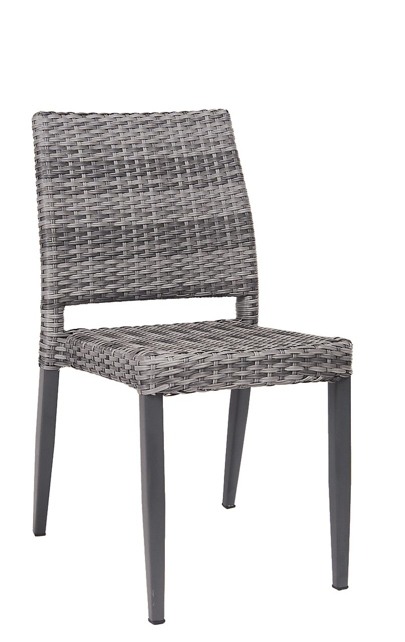 Wicker Outdoor Dining Chairs Lakeview Poly Woven Outdoor Chair