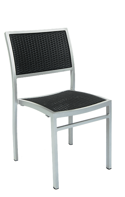 outdoor aluminum chairs rolling office chair on hardwood floor woven wicker seats stools kingsbury features an frame built to endure commercial use and a synthetic
