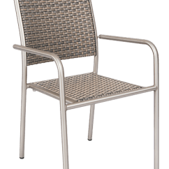 Outdoor Aluminum Chairs Dining Table 4 Rattan Chair Patio Arm Diversey Armchair With Imitation Back And Seat For Home Or Commercial Use