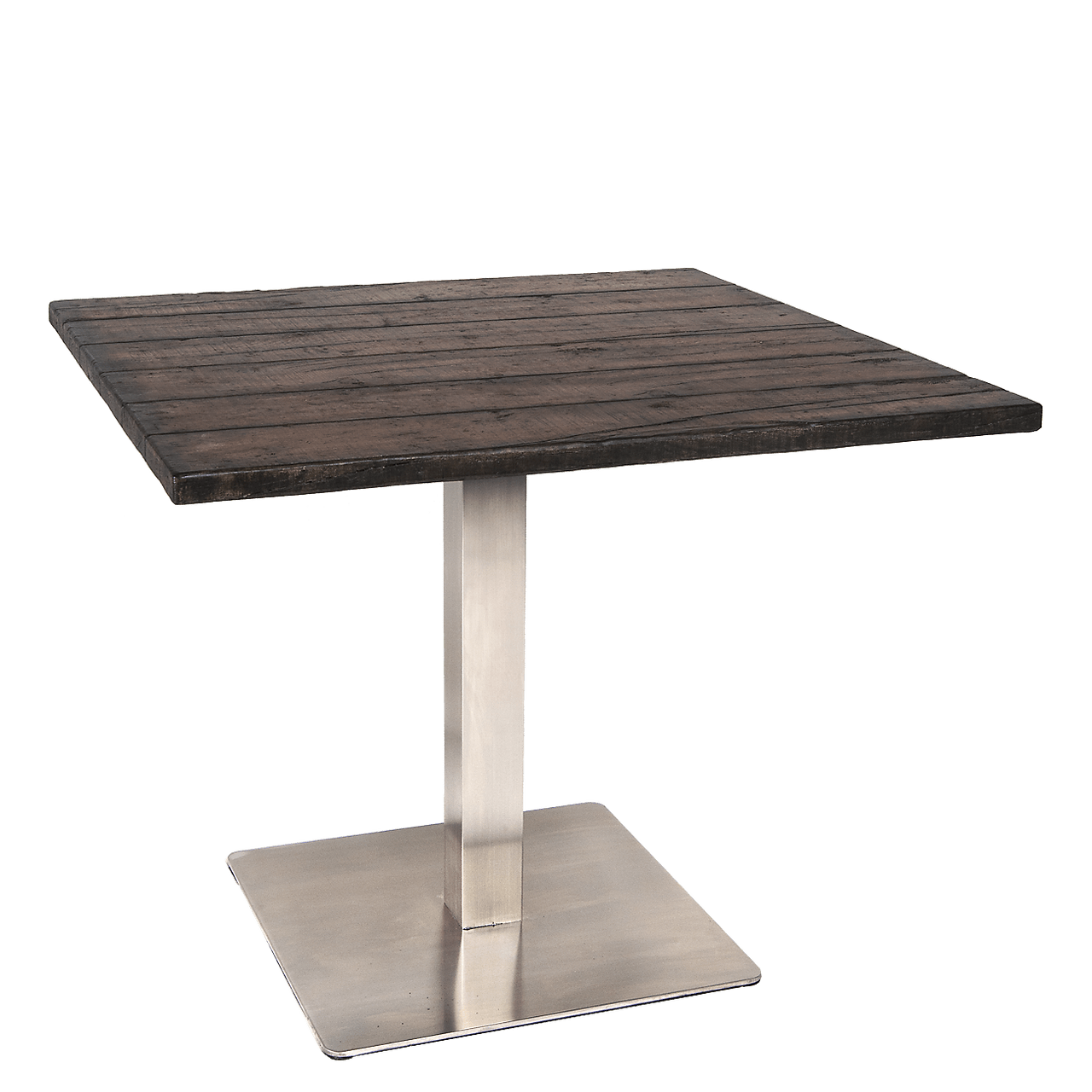 Faux Wood Outdoor Dining Table Concrete Top