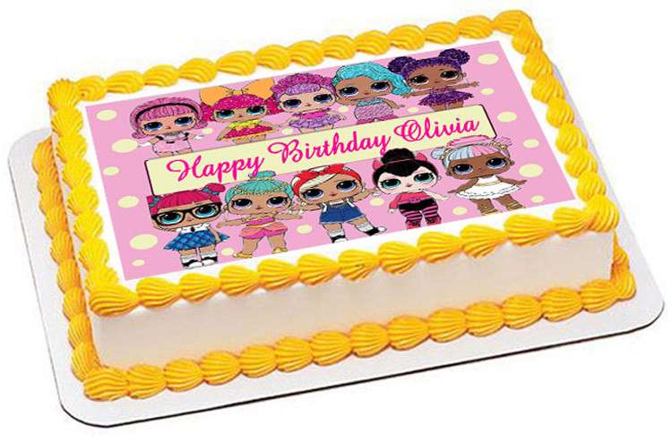 Lol Suprise Dolls Edible Birthday Cake Topper